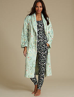 Pyjama Set with Dressing Gown, , catlanding