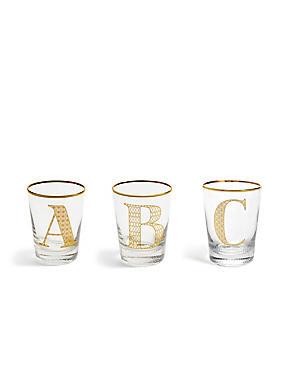 A - Z Individual Alphabet Glasses, , catlanding