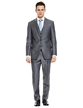 Official England Big & Tall Grey Regular Fit Suit