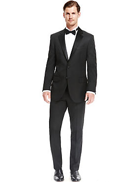 Big & Tall Black Regular Fit Dinner Suit