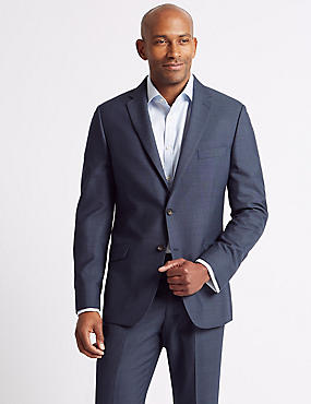 Big & Tall Blue Textured Slim Fit Suit, , catlanding