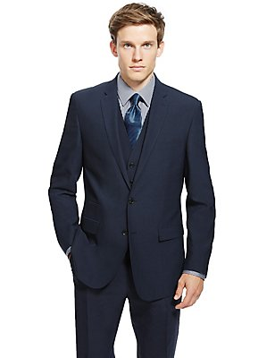 Navy Tailored Fit Suit, , catlanding