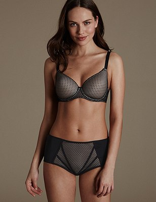 Set with Padded Underwired Full Cup A-E, , catlanding