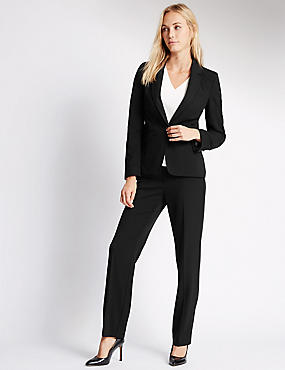 Ensemble pantalon et blazer coupe longue, , catlanding