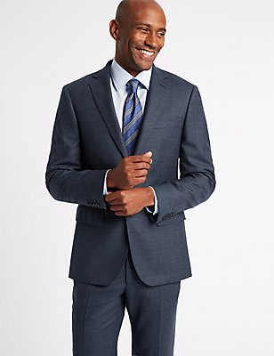 Textured Tailored Fit Wool Suit, , catlanding