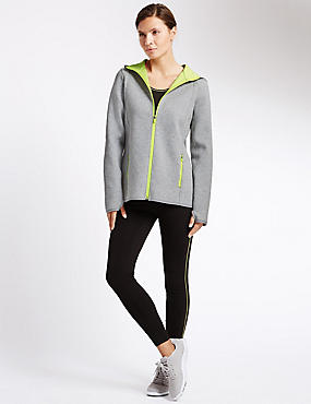 Round Neck Bonded Hoodie & Leggings Set, , catlanding