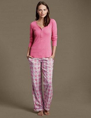 Dobby Checked Pyjamas, , catlanding