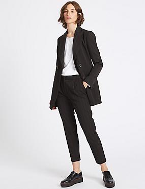 Striped Blazer & Trousers Set, , catlanding