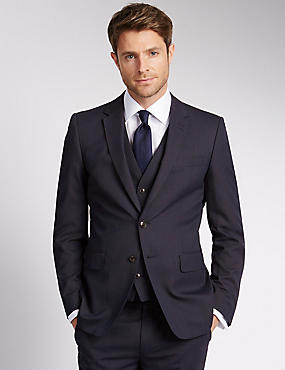 Big & Tall Blue Slim Fit Suit, , catlanding