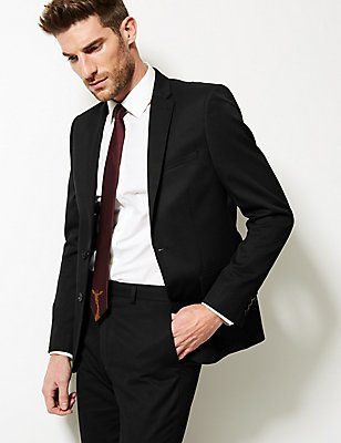 Black Slim Fit Suit, , catlanding