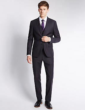 Navy Modern Tailored Fit Suit
