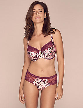 Silk & Lace Printed Set with Balcony DD-G, , catlanding