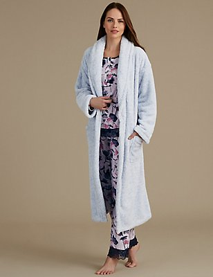 Dressing Gown with Floral Print Pyjama Set, , catlanding
