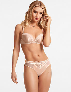 Silk & Lace Set with Padded Balcony A-E, , catlanding