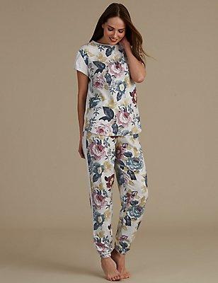 Short Sleeve Pyjama Set, , catlanding