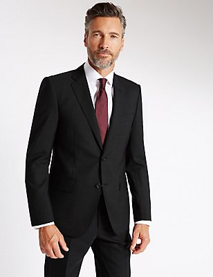 Grey Tailored Fit Wool Suit, , catlanding