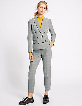 Checked Jacket & Trousers Set, , catlanding