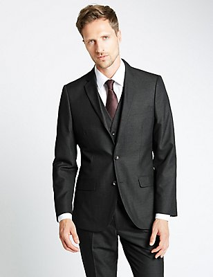 Charcoal Tailored Fit 3 Piece Suit, , catlanding