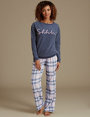 Long Sleeve Pyjama Set, , catlanding