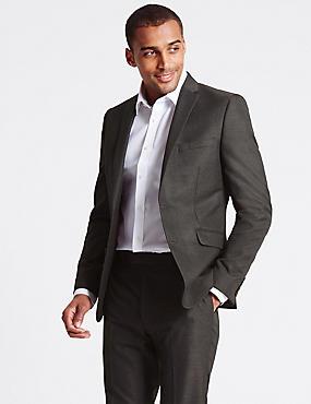 Charcoal Modern Slim Fit Suit, , catlanding