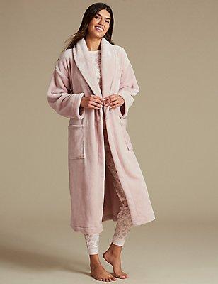 Pyjamaset met ochtendjas, , catlanding