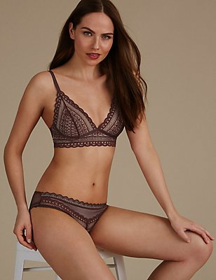 Geometric Lace Set with Bralet, , catlanding