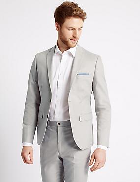 Grauer, auf Figur geschnittener Anzug mit Strukturmuster , , catlanding