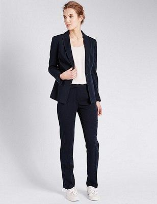 1 Button Angle Seam Suit, , catlanding