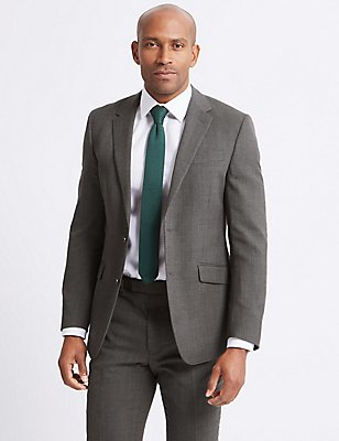 Grey Regular Fit Suit, , catlanding