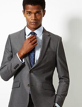 Grey Modern Slim Fit Suit, , catlanding