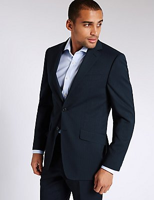 Big & Tall Navy Regular Fit Wool Suit, , catlanding