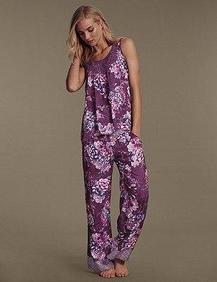 Floral Pyjamas, , catlanding