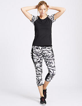 Short Sleeve Top with Leggings Set, , catlanding
