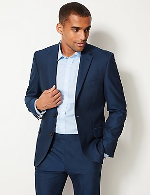 Indigo Tailored Fit Suit, , catlanding