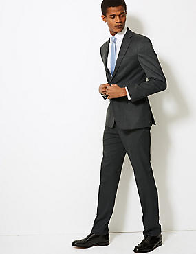 Grey Slim Fit Suit, , catlanding