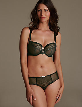 Lace Set with Underwired Non-Padded Balcony DD-GG, , catlanding