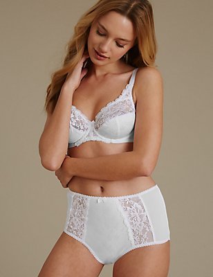 Jacquard Lace Set with Underwired Full Cup, , catlanding