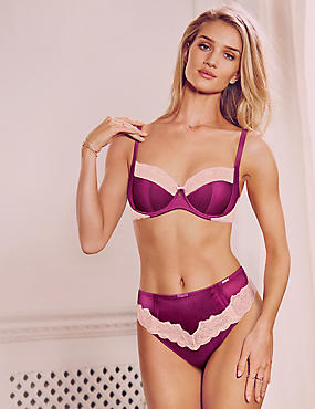 Silk Lace Set with Non-Padded Balcony B-DD, , catlanding