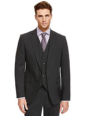 Big & Tall Charcoal Regular Fit Suit, , catlanding