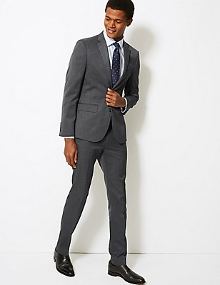 Grey Modern Slim Fit Suit , , catlanding