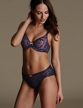 Smoothing Lace Set with Spacer Underwired Plunge A-E