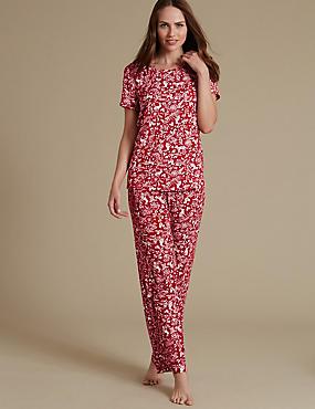 Pyjama met korte mouwen, , catlanding