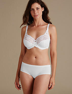 Vintage Lace Set with Non Padded Full Cup DD-H, , catlanding