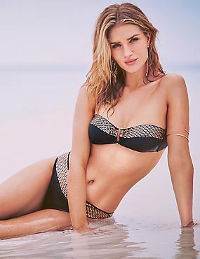 Ensemble bikini doré, effet métallisé, , catlanding