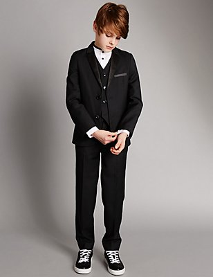 Notch Lapel 2 Button Suit (5-14 Years), , catlanding
