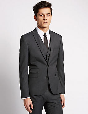 Charcoal Superslim 3 Piece Suit, , catlanding