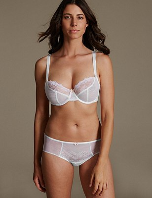 Penelope Lace Set with Underwired Non-Padded Balcony DD-GG, , catlanding