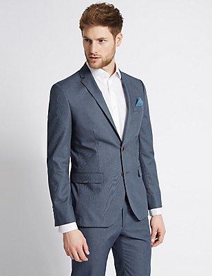 Dark Blue Denim Tailored Fit Suit, , catlanding