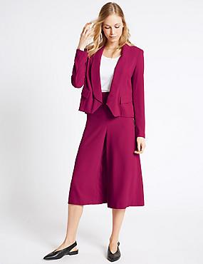 Ensemble jupe-culotte et veste en crêpe coupe courte, , catlanding