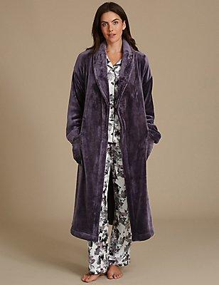 Ensemble pyjama et robe de chambre en satin avec imprimé, , catlanding